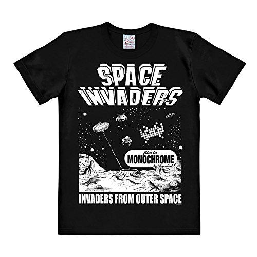 Space Invaders - T-shirt From Outer Space in cotone di ottima qualità - Nero - XL