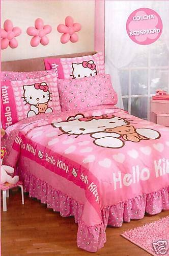 Sanrio Hello Kitty Love Bedspread Bedding Set Twin