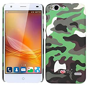 Heartly Army Style Retro Color Armor Hybrid Hard Bumper Back Case Cover For ZTE Blade S6 Dual Sim - Army Green