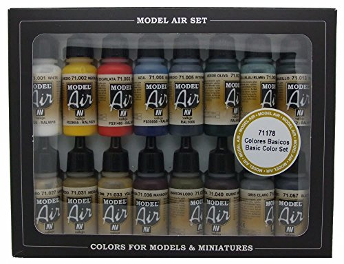 Vallejo WWII Allied Model Air Paint, 17ml (Pack of 16) (Vallejo Model Air compare prices)