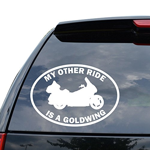 MY OTHER RIDE HONDA GOLDWING MOTORCYCLE MOTORBIKE Decal Sticker Car Truck Motorcycle Window Ipad Laptop Wall Decor - Size (07 inch / 18 cm Wide) - Color (Gloss WHITE) (Honda Goldwing Motorcycle compare prices)