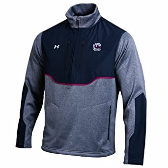 NCAA South Carolina Fighting Gamecocks Mens Contender Half Zip Pullover by Under Armour
