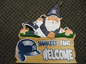 MLB New York Yankees Gnome Fence Sign by Forever Collectibles