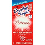 Crystal Light On The Go Wild Strawberry with Caffeine, 10 Packets (Pack of 4)