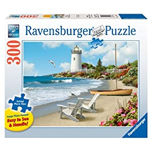 Large Size 300 Pieces Ravensburger Sunlit Shores Jigsaw Puzzle