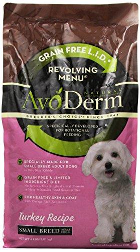 AvoDerm Natural Revolving Menu Small Breed Turkey Dog Food, 4-Pound