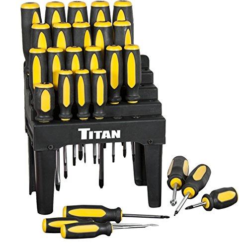 titan 26 piece screwdriver set with holder kit lifetime warranty hardware t. Black Bedroom Furniture Sets. Home Design Ideas