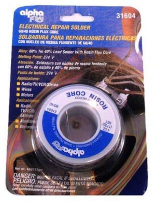 Alpha Metals AM31604 3-oz., .062-Diameter Leaded Electrical Solder
