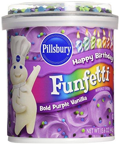 Pillsbury Funfetti Frosting - Bold Purple - 15.6 Ounces (Funfetti Icing compare prices)