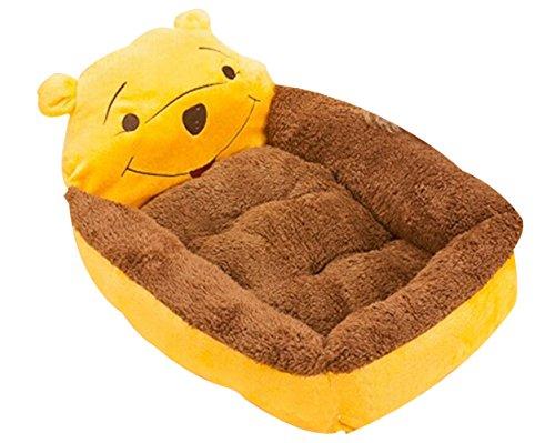 Cute Cartoon Warm Pet Dog Cat Beds with a Heart Pillow