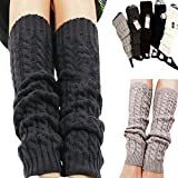 Sanwood Womens Winter Knit Crochet Leg Warmers Leggings