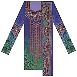 New Look Apparel 4U Women's Pashmina Unstitched Top & Shawl Set (Multi-Coloured)