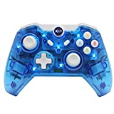 Xbox one Controller,YOTOSAN(TM) Wireless Game Controller joystick for Xbox one and PC,Compatible with Xbox one and Win 7/8/10,Transparent shell with LED.