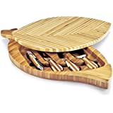Picnic Time Bamboo Leaf Cheese Board and Tool Set
