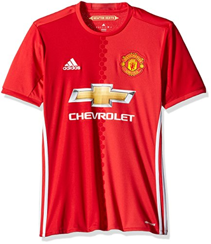 International Soccer Manchester United Men's Jersey, Small, Red/White (Manchester United White Jersey compare prices)