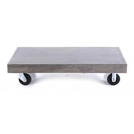 Table basse béton à roulettes 120 x 60 cm Hermitage-Table basse béton à roulettes 120 x 60 cm Hermitage