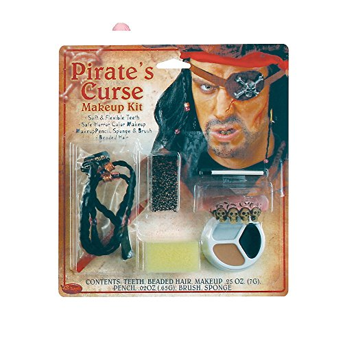 New Pirates Curse Fancy Dress Make Up Set Accessory - 1