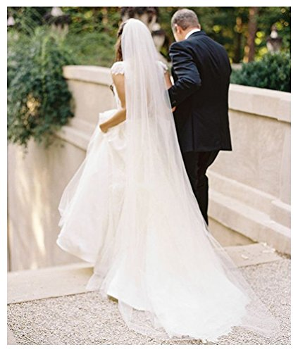 Belle House White Tulle Sheer Wedding Bridal Veils Chapel for Bride