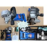 Wall Groove Cutting Machine 110V 110 Voltage Wall Chaser 10 Crack Chaser Tuck Point Blade Stone concrete cement cutter 4850 Watt Slotting Machine 3 Extra Pairs of Carbon Brush attached
