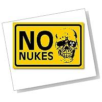 NO NUKESステッカー Sサイズ 再帰反射でよく目立つ NO NUKES(S)