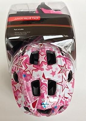 Raleigh Bike / Cycle Helmet Knee & Elbow Pad Set Girls Pink Mystery 46-54cm by Raleigh