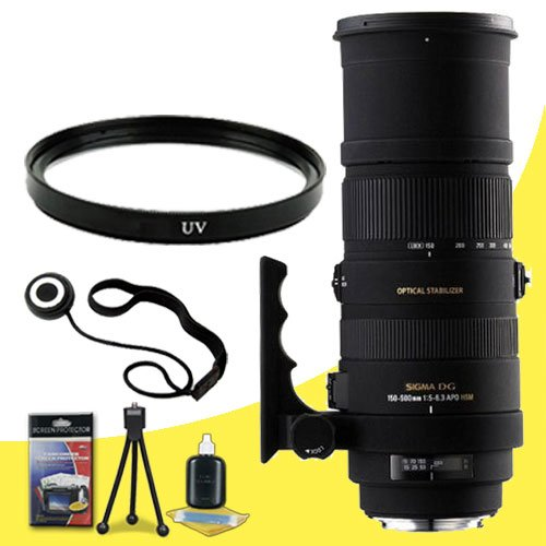 Sigma 150-500Mm F/5-6.3 Af Apo Dg Os Hsm Telephoto Zoom Lens For Canon Digital Slr Cameras + 86Mm Uv Filter + Lens Cap Keeper + Deluxe Starter Kit Davismax Bundle