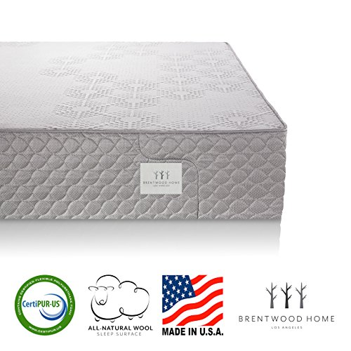 Brentwood Home S-Bed Latex and Gel Memory Foam Mattress, Made in California,...