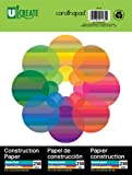 U-Create Construction Paper 9x12 Inches Assorted Colors 250 Sheets (91160)