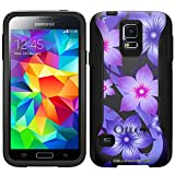 Otterbox Commuter Purple Hibiscus on Black Case for Samsung Galaxy S5