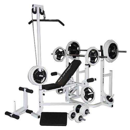 [WILD FIT ワイルドフィット]マルチトレーニングジムセット 黒ラバー140kg