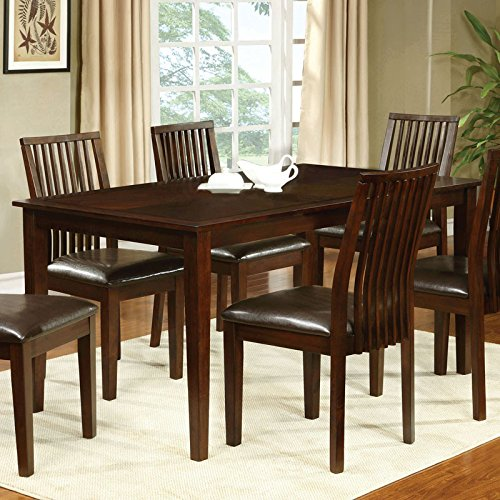 Montego Transitional Style Walnut Finish 7-Piece Dining Table Set