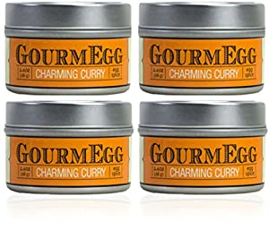 GourmEGG Spices - Charming Curry 4 pack - Gourmet Herbs and Spices for the Curious - All Purpose Seasoning - Made for EGGS, but strong enough for your CHICKEN