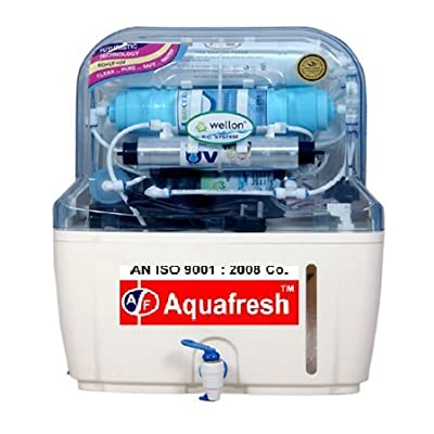 Aquafresh Under Sink Pearl 10 ltr Mineral RO+UV+TDS Adjuster+UF Water Purifier with Indicator