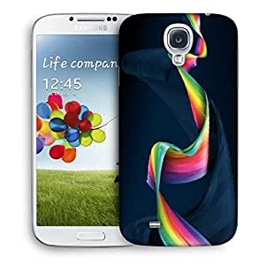 Snoogg Wavy Mixed Color Designer Protective Phone Back Case Cover For Samsung Galaxy S4