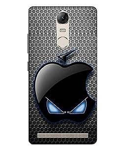 Snazzy Logo Printed Black Hard Back Cover For Lenovo vibe K5 Note