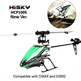 Hisky HCP100S 6CH 2.4Ghz Dual Brushless Flybarless RC Helicopter BNF