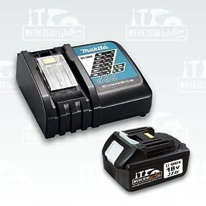 Ersatzakku 18V Lithium-Ion 3,0Ah für BL1830 / BL1815 + orig Makita Ladegerät DC18RC