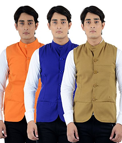 American-Elm Men's Multicolor Summer Modi Jacket- Pack of 3