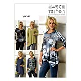 Vogue Patterns 9057 Y Sizes 4 - 6/ 8 - 10/ 12 - 14 Misses Top, Multi-Colour