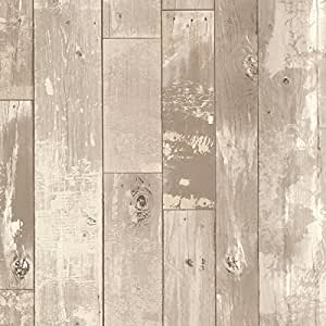 Brewster 347 20130 heim distressed wood panel wallpaper for Brewster wallcovering wood panels mural