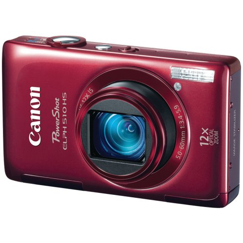 Canon PowerShot ELPH 510 HS 12.1 MP CMOS Digital Camera with Full HD Video and Ultra Wide Angle Lens (Red) (Canon Powershot Elph 510 Hs compare prices)