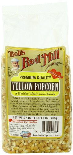 Bob's Red Mill Corn Popcorn Yellow, 27-Ounce (Pack of 4)