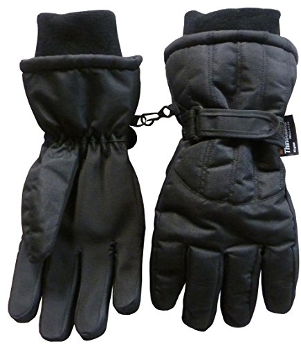 N'Ice Caps Women's Cold Weather Thinsulate and Waterproof Ski Gloves with Ridges (Small/Medium, Black) (Ski Inserts compare prices)