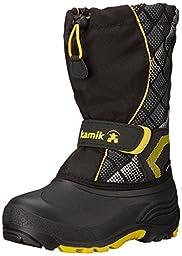 Kamik Snowbank2 Snow Boot (Toddler/Little Kid/Big Kid), Black/Yellow, 8 M US Toddler