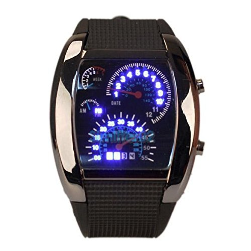 Amyove-Fashion-Sports-Turbo-Blue-Flash-LED-Car-Speedometer-Meter-Dial-Men-Wrist-Watch