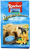 Loacker Vanilla Quadratini Wafer Biscuits 125 g (Pack of 6)