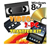 Video-2-PC DIY Video Capture Kit. For Windows 8, 7, Vista & XP. Links your VCR or Camcorder to the USB port on your PC. Copy, Convert, Transfer: VHS, Video-8, VHS-C, Hi8, Digital8, & MiniDV video tapes to digital format H.264, MPEG, MPEG-2, MPEG-4 & unco