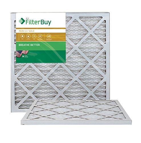 AFB Gold MERV 11 18x22x1 Pleated AC Furnace Air Filter. Pack of 2 Filters. 100% produced in the USA.