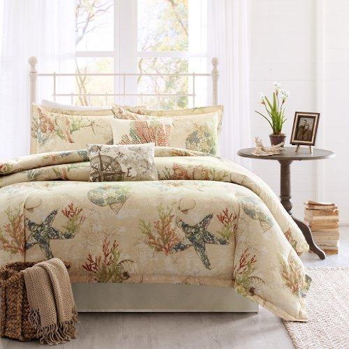 Harbor House Summer Beach 4-Piece Comforter Set, California King, Multi Color