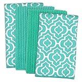 DII Cleaning, Washing, Drying, Ultra Absorbent, Lattice Microfiber Dishtowel 16x19